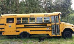 Awesome 14 passager school bus with wheel chair lift and spaces for wheel chairs. We bought this bus from a school district and never used it. We bought 2 to convert to tiny homes. Has been regularly maintained and is clean and ready to go. Also has new