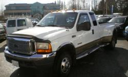Make Ford Model F-350 Super Duty DRW Year 2000 Colour White kms 318000 Trans Automatic Quality, Value, Sale, Finance, Lease, Warranty, Parts, Tires, since 1990, winner of Consumer Choice Award 2016 for Vehicle Sales in British Columbia, Daytona Auto