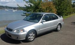 Make Honda Colour Silver Trans Manual kms 285000 Honda Civic EX sedan, 285,000 km. One owner, very reliable and smooth drive. Driven in Victoria and area only. Terrific car for student. 4 doors, standard transmission. Good condition, well maintained, oil