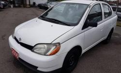 Make Toyota Model Echo Year 2000 Colour White kms 180000 Trans Automatic Automatic. Hard to find with A/C. Very low mileage 180 K's. No accident. Car-proof available. Very clean in and out. Free 3 month Warranty+.. REDUCED PRICE FROM $3700. TILL END OF