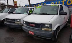 Make GMC Model Safari Year 2001 Colour White kms 202000 Trans Automatic 0nly 201 K's, shelved and convenient box with drawers, like new tires, free 3month/3000 kilometer warranty+.. Sale price. We accept cash, Debit and major credit cards, FINANCE