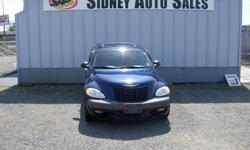 Make Chrysler Model PT Cruiser Year 2001 Colour Blue Trans Automatic Sidney Auto Sales, 10077 Galaran Rd in west Sidney. 2001 Chrysler Pt Cruiser Limited Edition, 4 Cyl, Auto, A/C, C/D, Heated Seats, Sunroof, New Brakes all around, Only 92K