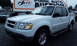 Make Ford Model Explorer Year 2001 Colour white kms 272399 Trans Automatic Automatic transmission and 4.O Litre Engine,6 cylinder ,Four Wheel Drive, 272399 Kilometers White ,5 Passenger Declarations - Ex Lease, Lot #: F5 - Power steering, Power brakes,
