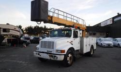 Make International Year 2001 Colour White Trans Manual kms 231431 Stock #: BC0030763 VIN: 1HTSCAAL11H342481 2001 International 4700 Bucket Truck Diesel with Air Brakes, 7.6L, 8 cylinder, 2 door, manual, 4X2, AM/FM radio, cassette player, white exterior,
