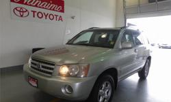 Make Toyota Model Highlander Year 2001 Colour Silver kms 173762 Trans Automatic Price: $9,995 Stock Number: 16650B Interior Colour: Grey Cylinders: 6 Value pricced 4WD that will tick all the boxes for your vehicle needsCall us toll-free at 1 877 295-1367