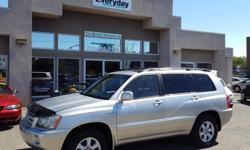 Make Toyota Colour Silver Trans Automatic kms 204000 2001 Toyota Highlander V6 4x4 with leather seats, and sunroof. Proven Toyota reliability. This SUV is in fantastic condition ready to take on all your South Island needs! Come into Everyday Motors to