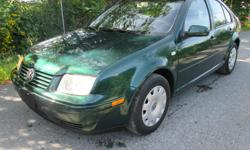 Make Volkswagen Model Jetta Colour GREEN Trans Automatic kms 162000 2001 VOLKSWAGON JETTA 4DR 2.0L, 4 cylinder automatic trans. gas miser, has 162,000 k's on it, good brakes good tires no leaks no noises very clean car great commuter car just had a wheel