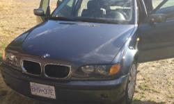 Make BMW Model 325i Year 2002 Colour Blue/grey kms 173000 Trans Automatic Heated leather seat, sunroof, comfortable and nice to drive. Call to set up a test drive...moving soon and must sell!!! $4,400