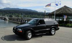 Make Chevrolet Model Blazer Year 2002 Colour black kms 222590 Trans Manual Chevy Blazer is a solid SUV! Runs great, powerful drive, a very nice sporty 4x4! Call us for more info on this vehicle and come in and take it for a test drive today! Come out and