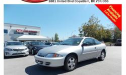 Trans Automatic 2002 Chevrolet Cavalier has alloy wheels, CD player, A/C, AM/FM radio, rear defrost and more!!! STK # 60163A DEALER #31228 Need to finance? Not a problem. We finance anyone! Good credit, Bad credit, No credit. We handle car loans for an