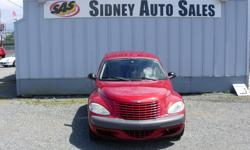 Make Chrysler Model PT Cruiser Year 2002 Colour Red Trans Automatic Sidney Auto Sales, 10077 Galaran Rd in west Sidney. 2002 Chrysler PT Cruiser, 4 Cyl, Auto, A/C, Power Windows, Power Locks, Only 128k