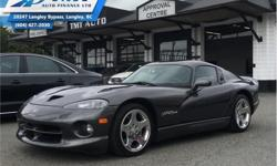 Make Dodge Model Viper Year 2002 Colour Grey kms 5461 Trans Manual Price: $79,995 Stock Number: UVM2276 VIN: 1B3ER69E62V102276 Engine: 450HP 8.0L 10 Cylinder Engine Fuel: Gasoline Low Mileage! Check out our large selection of pre-owned vehicles today!