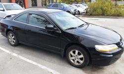 Make Honda Model Accord Coupe Year 2002 Colour BLACK kms 225 Trans Manual 2002 HONDA ACCORD 5SPEED BLACK 225K FWD 4CLY LEATHER SEATS SUNROOF 2DOOR TIRES ARE ALMOST NEW JUST SPENT 1000 ON IT AND HAVE THE PAPER WORK TO PROVE IT.NEW POWER STEERING PUMP NEW