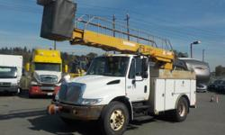 Make International Year 2002 Colour White Trans Manual kms 318803 Stock #: BC0030431 VIN: 1HTMMAAN02H502486 2002 International 4300 Bucket Truck Diesel with Generator and Air Brakes, 7.6L, 8 cylinder, 2 door,6 speed plus manual, 4X2, air conditioning,