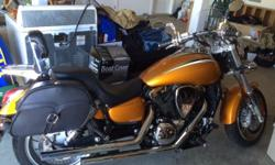 2002 Kawasaki Mean Streak 1500, fuel injected, 21k miles, liquid cooled, shaft drive. Bike is in beautiful shape with power to spare. Comes with locking saddle bags, quick connect windscreen, Vance & Hines exhaust, power commander module (not installed).