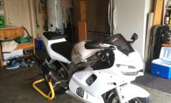 2002 Yamaha R6 22,000 Km Cleaned Carburetors, New Coils (for spark plugs), New Spark Plugs, New Battery March.7, New Levers, New Headlight/Blinkers/Tail Light. Fresh Coolant Flush. The bike is in great shape and pulls extremely hard. Bike always starts