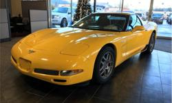 Make Chevrolet Model Corvette Year 2003 Colour Yellow kms 48950 Trans Manual Price: $34,500 Stock Number: 19102B VIN: 1G1YY12S535130744 Interior Colour: Black Engine: 5.7 Litre V8 SFI High Output Fuel: Gasoline 5.7L LS6 V8. 6 Speed manual. Leather