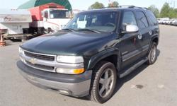Make Chevrolet Model Tahoe Year 2003 Colour Green kms 213583 Price: $4,530 Stock Number: BC0027233 Interior Colour: Grey Cylinders: 8 Fuel: Gasoline 2003 Chevrolet Tahoe 4WD LT, 5.3L, 8 cylinder, 4 door, automatic, 4WD, 4-Wheel ABS, cruise control, air