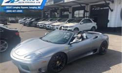 Make Ferrari Model 360 Year 2003 Colour Grey kms 27255 Trans Automatic Price: $107,995 Stock Number: ZA3297 VIN: ZFFYT53A830133297 Interior Colour: Black Engine: 400HP 3.6L 8 Cylinder Engine Fuel: Gasoline Low Mileage, F1 GEAR BOX! Check out our large