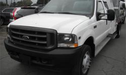 Make Ford Model F-550 Year 2003 Colour White kms 113892 Price: $19,870 Stock Number: BC0027761 Interior Colour: Grey Cylinders: 10 Fuel: Gasoline 2003 Ford F-550 Crew Cab 2WD Dually with Dump Box, 6.8L, 10 cylinder, 4 door, automatic, RWD, AM/FM radio,