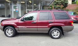 Make Jeep Model Grand Cherokee Year 2003 Colour Red kms 168100 Price: $4,988 Stock Number: 608-185c Interior Colour: Black Check out this amazing deal on a 2003 Jeep Grand Cherokee Laredo. Make every journey memorable when you step into this Jeep Grand