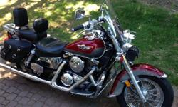 2003 Vulcan 1500cc Classic in Excellent condition with lots of extra features. Garage kept with only 33K kms . Custom mustang seats with back rests front and back, for comfortable long rides. Luggage rack, custom exhaust system, after market tach., cruise