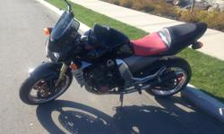 Selling my bike as I've decided to get a convertible for the summer. New tires, exhausts, clutch cable, levers and oil change. 18,000 Kms. Rides great and looks good too. Not many around.