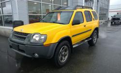 Make Nissan Model Xterra Year 2003 Colour Yellow kms 192000 Trans Automatic This rugged 2003 Nissan Xterra is for sale on our lot in Campbell River and ready for whatever you can throw at it. This AWD SUV has 192383 kms. It's solar yellow clearcoat in