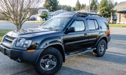 Make Nissan Colour Black Trans Automatic kms 202000 2003 NISSAN XTERRA 3.3L engine Automatic 4 wheel drive KM 202*** Oil changes done regularly All service records available 13inch LED light bar on lower front bumper 8-inch subwoofer with 6-speakers and