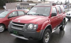 Make Nissan Model Xterra Year 2003 Colour Red kms 241305 Trans Automatic Nissan Xterra 4 Wheel Drive with the 3.3liter v6 engine and auto transmission. It is loaded with options including a tow package. This is an Island S.U.V. and has NO ACCIDENT