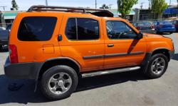 Make Nissan Model Xterra Year 2003 Colour Orange kms 222177 Trans Automatic Price: $4,988 Stock Number: 608-184b Interior Colour: Black END OF SUMMER SALE WHILE BOSS IS AWAYDiscover your next new vehicle in this excellently conditioned 2003 Nissan Xterra