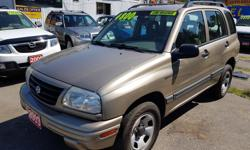 Make Suzuki Model Vitara Year 2003 Colour Gold kms 176000 Trans Automatic Automatic, 4x4, C/D, only 176000, local,2 owners, clean title, just got it in trading, free Warranty+.. We accept cash, Debit and major credit cards, FINANCE available OAC. open Mon
