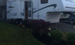 PRICE REDUCED MAKE AN OFFER 2004 FLEETWOOD WILDNERNESS ADVANTAGE 255RLDS **27FT 5TH WHEEL ** 2 SLIDE-OUTS** THIS NICE, CLEAN & A DESIRABLE SIZE FIFTH WHEEL WITH DOUBLE SLIDE-OUTS. IT INCLUDES A REAR DOUBLE SLIDE OUT (KITCHEN & DINING ROOM SLIDES). THE
