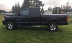 Make Dodge Model Ram 2500 Year 2004 Colour Black kms 274500 Trans Automatic Very well maintained , serviced every 5000KM By Alberni Chrysler Has not been smoked in Tonneau Cover Tow Package Air Conditioning Cruise Control Tilt Steering Power Windows &