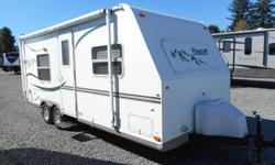 Limited budget? Want to enjoy the RV lifestyle? This trailer is for you! Walk-around queen bed (heated), sleeps 4, full bath, furnace, awning, light weight at 3500 lbs Has it all including fiberglass walls and aluminum framing. Special Features: Outdoor