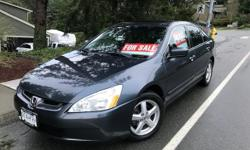 Make Honda Model Accord Sedan Year 2004 Colour Grey kms 195000 Trans Automatic Grey Honda Accord EX-L with black leather interior for sale. Sun roof, cruise control, 4-cylinder automatic, heated seats, winter tires, new brakes (front & back), new battery,