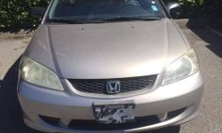 Make Honda Model Civic Year 2004 Colour Champagne Gold kms 141111 Trans Automatic Local Victoria automatic 2 door car with only 141,XXX km, well maintained , Non-smoking, Very Clean inside and out. Really good on gas. A few scratches on the car. No