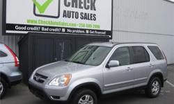 Make Honda Model CR-V Year 2004 Colour Silver kms 130000 Trans Automatic Price: $10,988 Stock Number: 605-123a Interior Colour: Grey Discover your next new vehicle in this excellently conditioned 2004 Honda CR-V EX-L. Featuring a 4-cyl 2.4l engine it'll