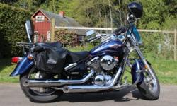 Excellent bike. Well maintained. Garage kept. Many upgrades, including new Mustang Touring Seat, Sissy bar, floorboards, crash bar, highway pegs, grips, waterproof saddlebags, tires. Just serviced and tuned up with a brand new chain, ready for cruising.