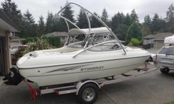 I am selling my 2004 Stingray 190CS. This is a 19 foot cuddy cabin design. Stingray produce well made boats and this model in particular is great as it has a cuddy cabin and keeps the water from entering the helm area vs a bow rider style. The boat has