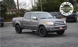 Make Toyota Model Tundra Year 2004 Colour Grey kms 177000 Trans Automatic Price: $10,500 Stock Number: 1553 VIN: 5TBET34134S451078 Interior Colour: Black Engine: V-8 cyl Fully loaded with a leather interior, integrated DVD system, heated seats, and wired