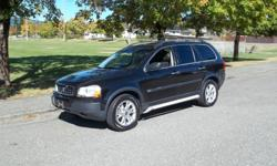 """Make Volvo Model XC90 Year 2004 Colour CHARCOAL BLACK METALLIC Trans Automatic VERY NICE ALL WHEEL DRIVE 7 PASSENGER SUV 2004 VOLVO XC90 ALL WHEEL DRIVE FULL LEATHER, 10"""" TOUCH SCREEN, DVD TO MANY OPTIONS TO LIST ALL OF OUR VEHICLES COME WITH CARPROOF AND"""