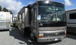 Freightliner chassis, 330HP cat diesel, 6 speed Allison transmission, 32000 miles, full body paint, leather upholstery, washer/dryer hookup, hitch & wiring, air brakes, backup camera, 7500Watt generator, auto leveling jacks, water filter, heat pump,roof &