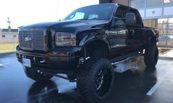 Make Ford Model F-350 SD Year 2005 Colour Black kms 169 Trans Automatic One of the cleanest Harley trucks you will find 169,000kms original ,local bc truck no accidents. I bought the truck off the original owner who was a older gentleman. It was all stock