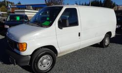 Make Ford Model E-150 Year 2005 Colour white kms 99000 Trans Automatic 2005 ford e150 cargo van , 5.4 litre automatic, ac. tilt, power group, good tires, well maintained as they were owned by the city of new Westminster, two available, 99,000 and 121,000