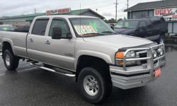 Make GMC Model Sierra 3500HD Year 2005 Colour Tan kms 177752 Trans Automatic 2005 GMC Sierra 3500HD Diesel SLE Crew Cab 4X4 Long Box 6.6L V8 Turbo Diesel with Automatic Transmission Power Windows, Locks, Seats, Mirrors and Ait-Conditioning Edge 5-Stage