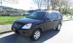 Make Honda Model CR-V Year 2005 Colour BLACK kms 155335 Trans Automatic Make sure you check out this great CR-V! Very nice leather interior, peppy responsive drive, highly versatile and roomy interior with great cargo space too! Very popular Honda model
