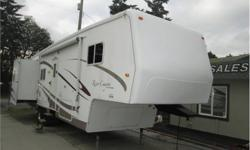 Price: $17,000 34 foor triple slide river canyon by travel supreme , full winter pack with thermal pane windows , rear living room , washer and dryer ready , has i c b c , rebuild status , tree branch came down and pocked a couple of holes in the rubber ,