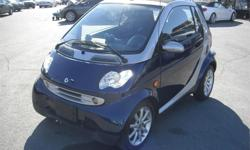 Make Smart Model FORTWO Year 2005 Colour Blue & Silver kms 106329 Price: $4,280 Stock Number: BC0027824 Interior Colour: Grey Cylinders: 3 Fuel: Diesel 2005 Smart Fortwo CDI Soft Top Convertible, 0.8L, 3 cylinder, 2 door, automatic, RWD, air conditioning,