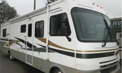 Price: $39,900 Cylinders: 8 Fuel: Gasoline 32 foot terra wide body by fleetwood , large super slide ,rear walk around bed , auto level system , gen set , 8.1 chevy motor , flex steel leather furniture .